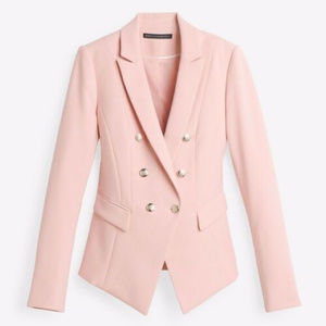 White house black market XS 2 trophy pink blazer